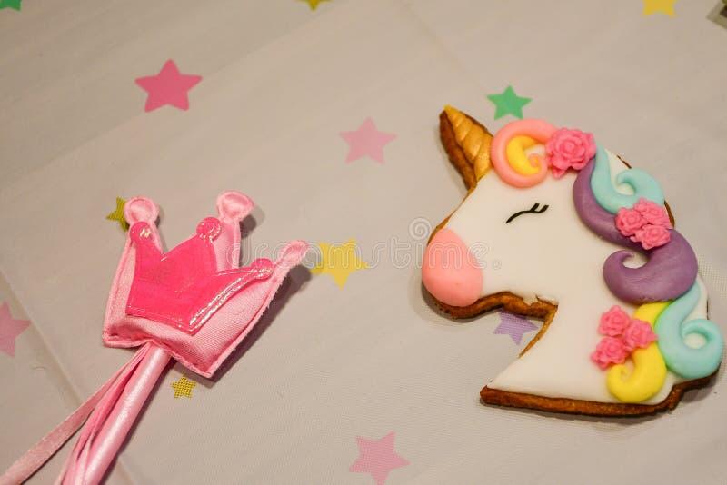 Biscuits de partie de licorne photos libres de droits