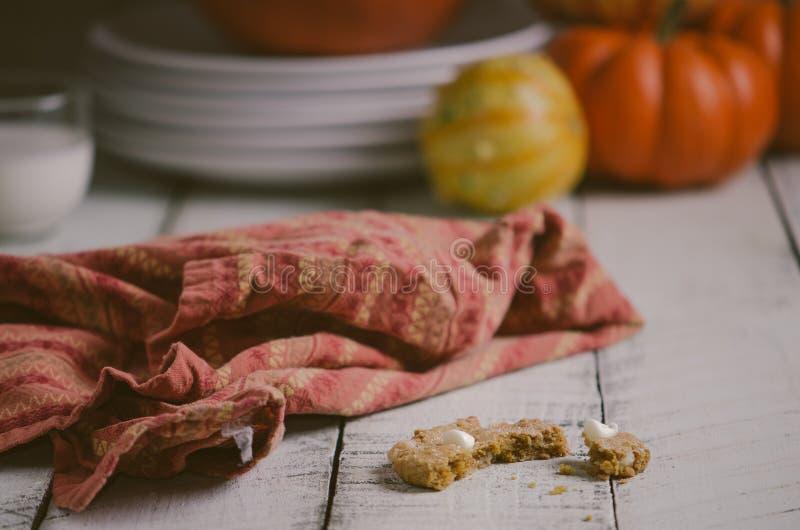 Biscuits de potiron photo stock