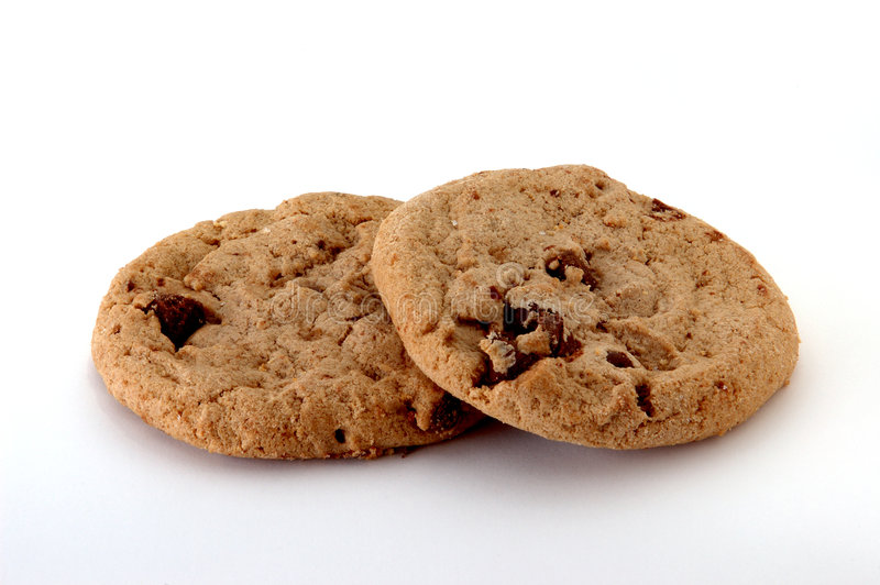 Biscuits de puce de chocolat photos stock