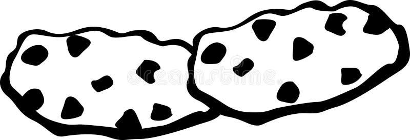 Biscuits de puce de chocolat illustration stock