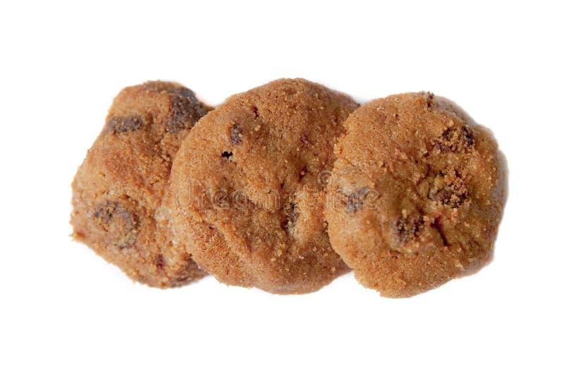 Biscuits de puces de chocolat 01 photos libres de droits