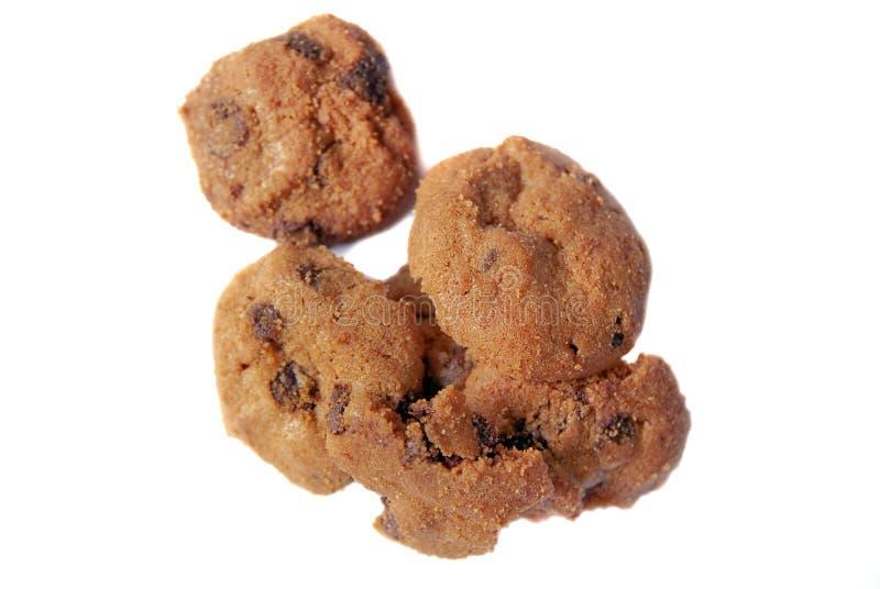 Biscuits de puces de chocolat 02 images libres de droits