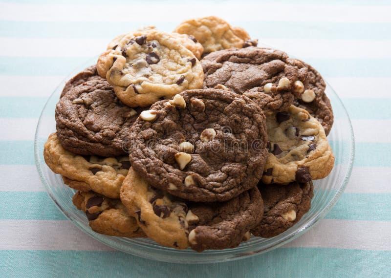 Biscuits de puces de chocolat photo libre de droits