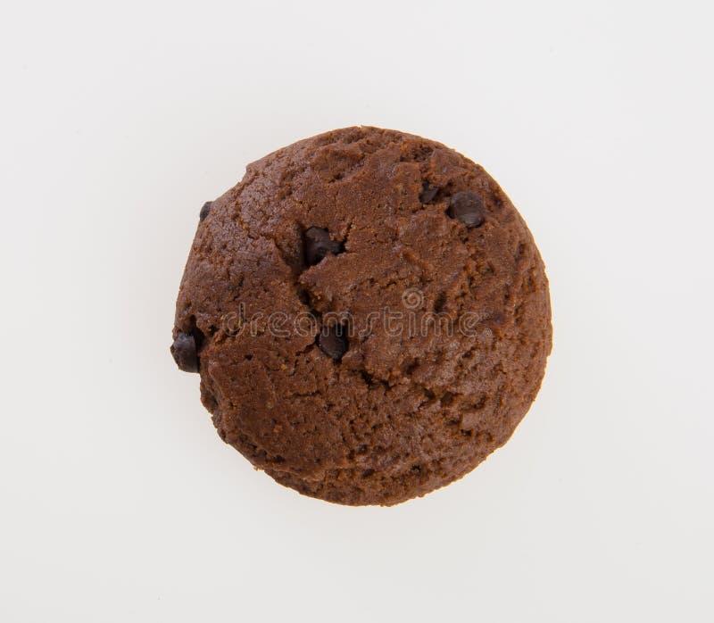 Biscuits de puces de biscuits ou de chocolat sur le fond images stock