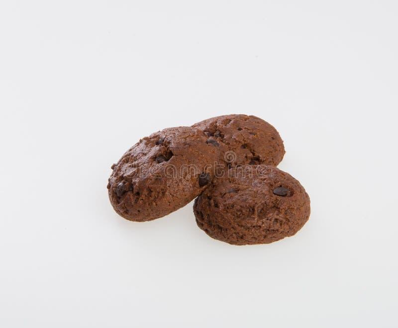 Biscuits de puces de biscuits ou de chocolat sur le fond photographie stock