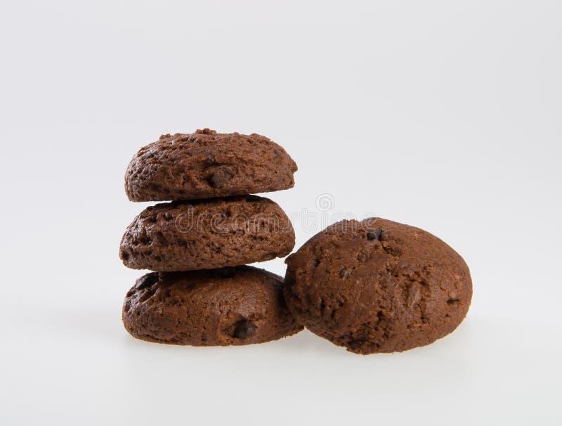 Biscuits de puces de biscuits ou de chocolat sur le fond image stock
