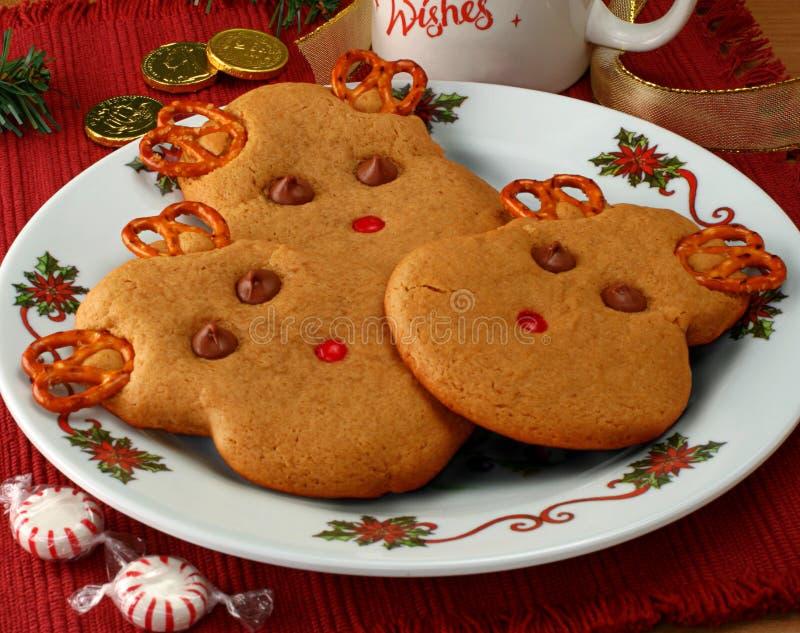 Biscuits de renne image stock