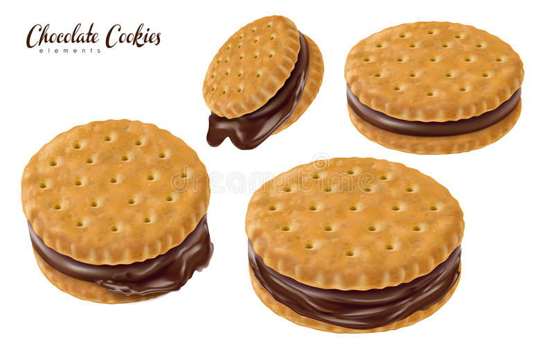 Biscuits de sandwich à chocolat illustration stock