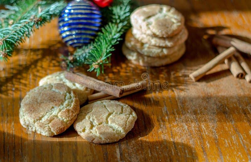 Biscuits de Snickerdoodle pour les vacances photographie stock