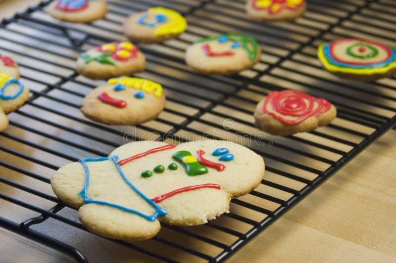 Biscuits de sucre décorés photographie stock libre de droits