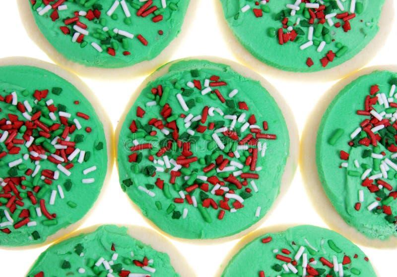 Biscuits de sucre de Noël images stock