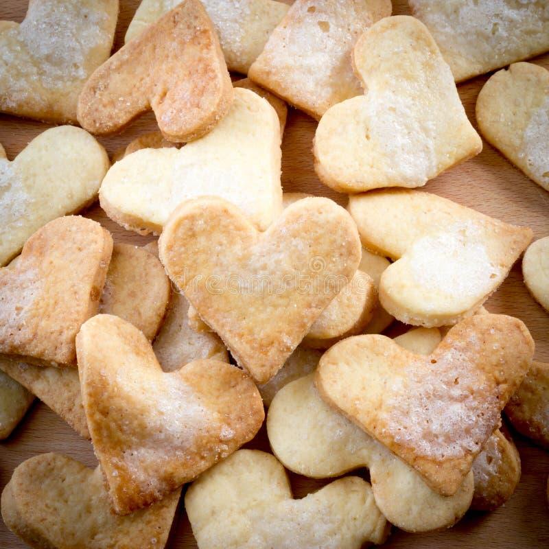 Biscuits de sucre formés par amoureux photographie stock