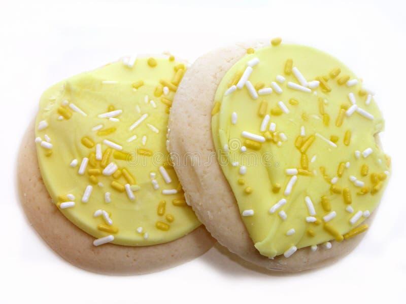 Biscuits de sucre givrés par citron photographie stock libre de droits