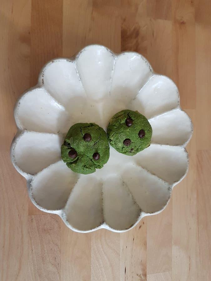 Biscuits de thé vert image libre de droits