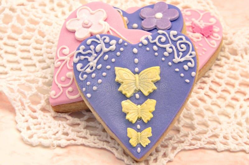Biscuits de Valentine photos stock