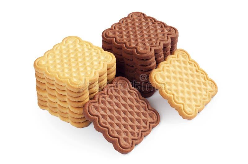 Biscuits de vanille et de chocolat image stock