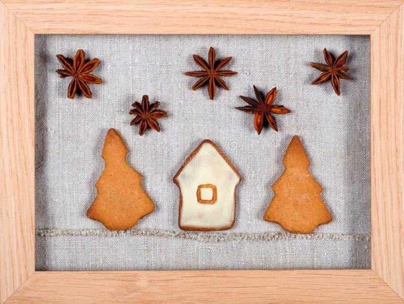 Biscuits disposés comme illustration image stock