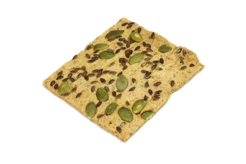 Biscuits doux avec des graines de cumin et de potiron images libres de droits