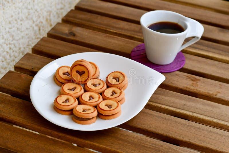 Biscuits et café photo stock