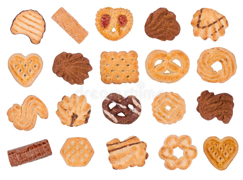Biscuits et disques photo stock