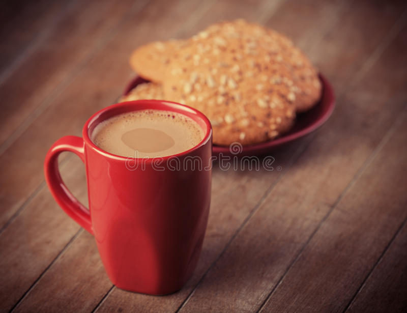 Biscuits et tasse photo stock