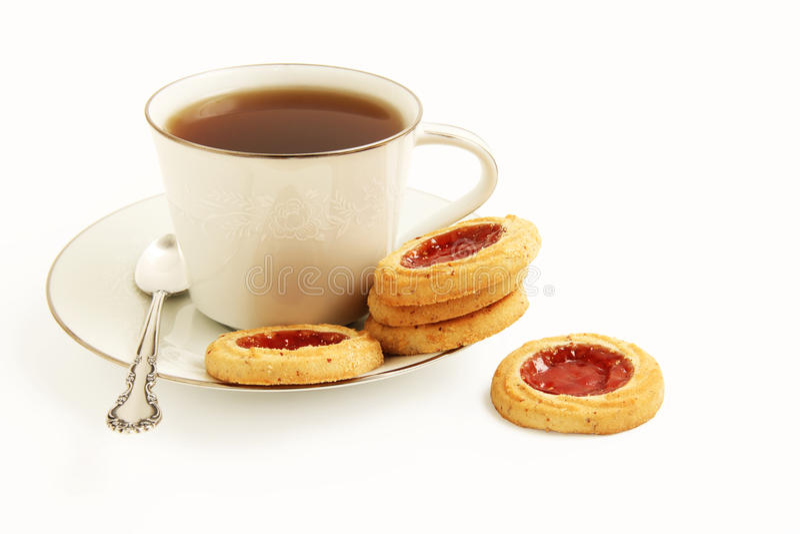 Biscuits et thé photos stock