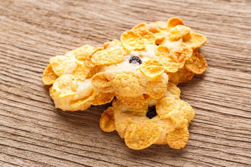 Biscuits faits maison de cornflakes photo libre de droits