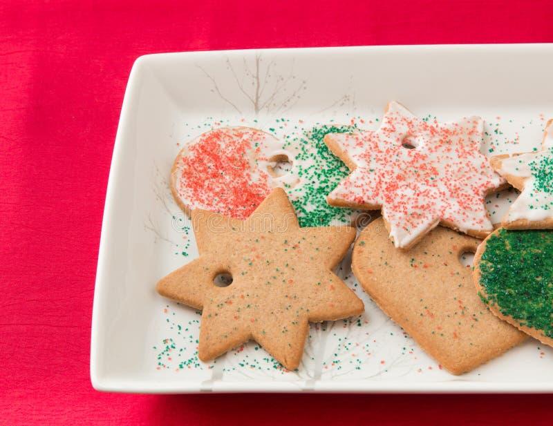 Biscuits faits maison de pain d'épice. image stock