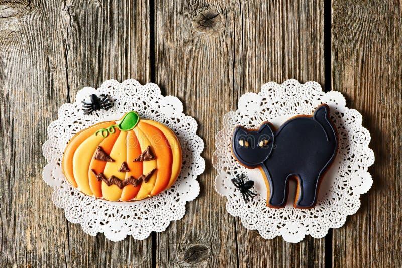 Biscuits faits maison de pain d'épice de Halloween image libre de droits