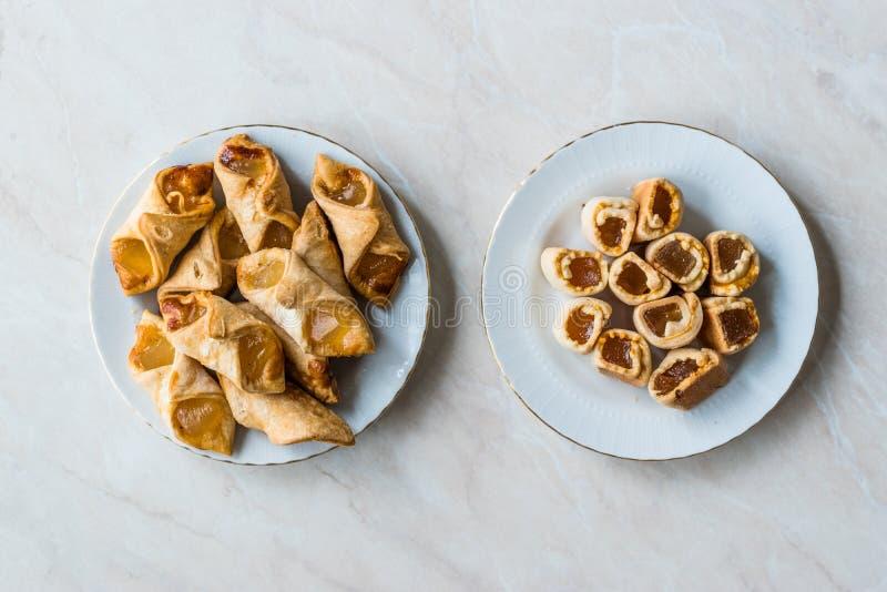 Biscuits faits maison/biscuits de plaisir turc habituellement servis avec le thé photo stock