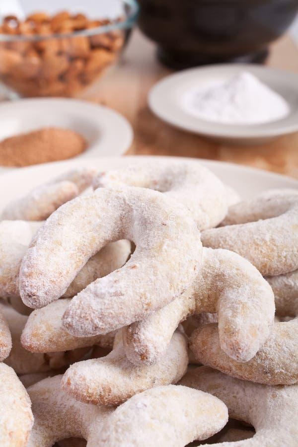 Biscuits faits maison de vanille et d'amande image libre de droits
