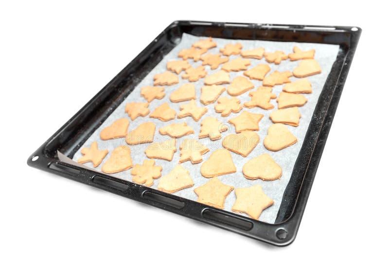 Biscuits faits maison simples dans le carter noir images libres de droits