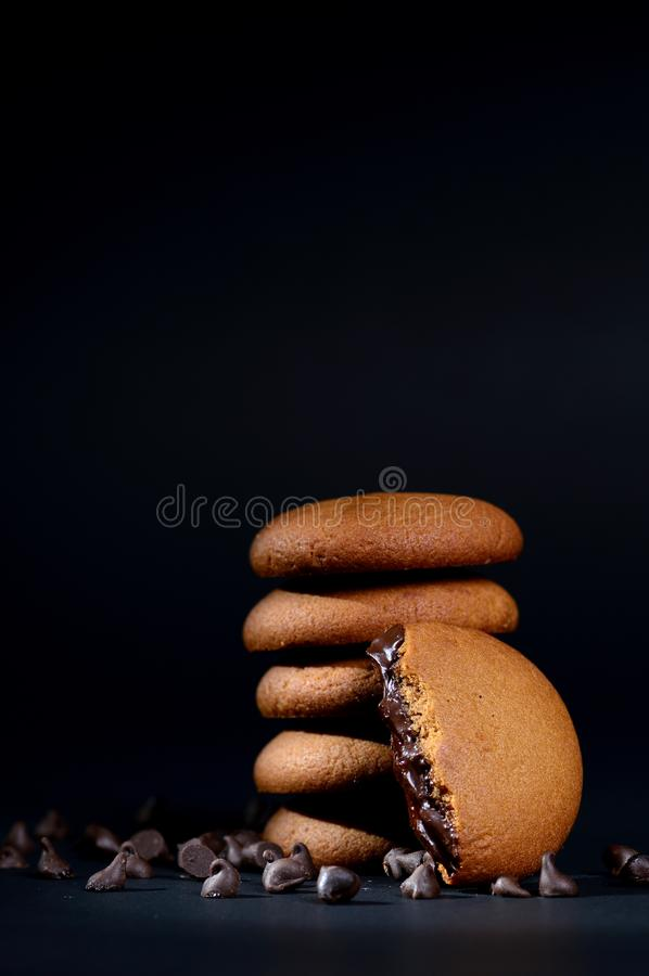 Free Biscuits Filled With Chocolate Cream. Royalty Free Stock Photos - 106529688