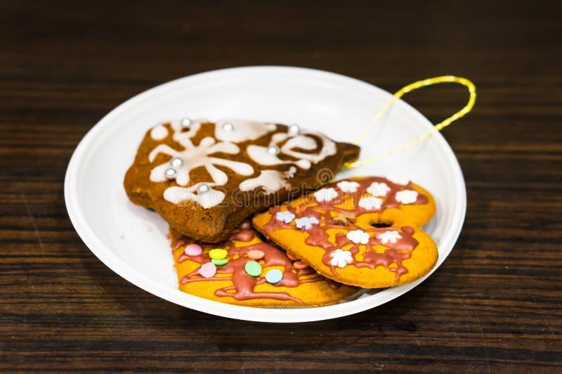 Biscuits frais de gingembre images libres de droits