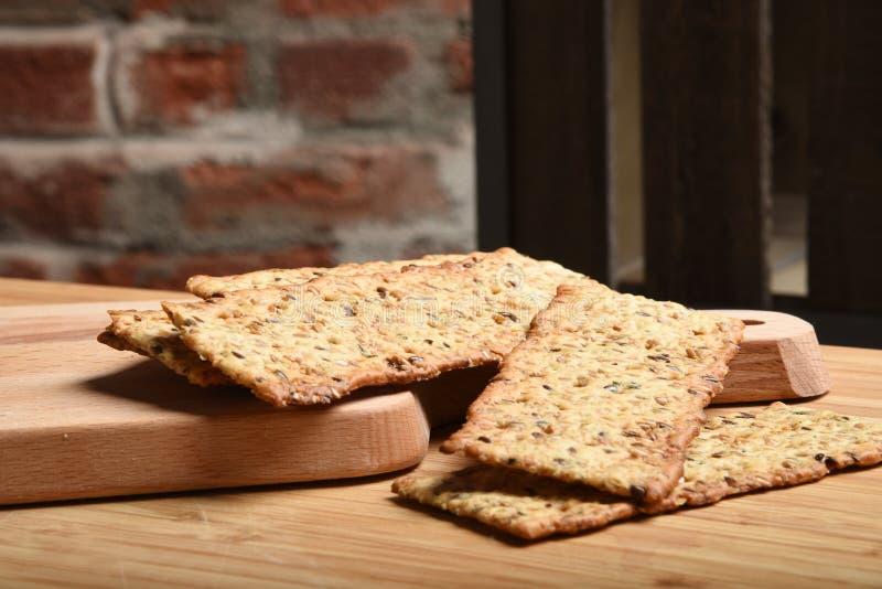 Biscuits gastronomes de blé entier photographie stock libre de droits