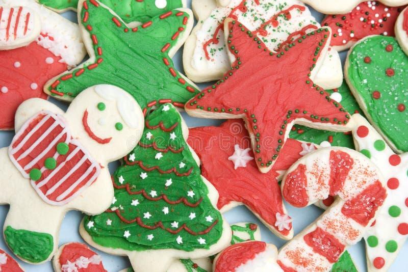 Biscuits givrés de Noël image libre de droits