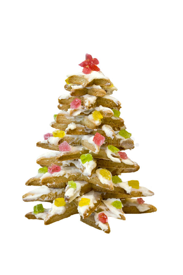 Free Biscuits In The Form Of Christmas Tree. Royalty Free Stock Photo - 12389465