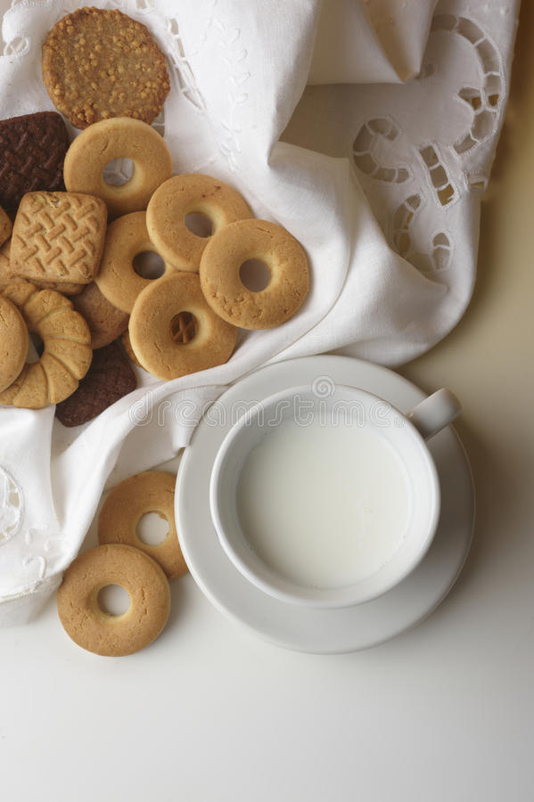 Download Biscuits And Milk Stock Photography - Image: 14772242