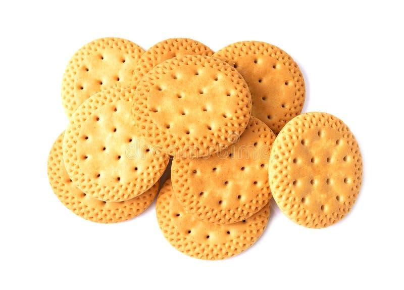 Biscuits ou biscuits sur le fond blanc images libres de droits