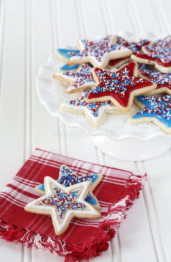 Biscuits pour le 4ème juillet photo libre de droits