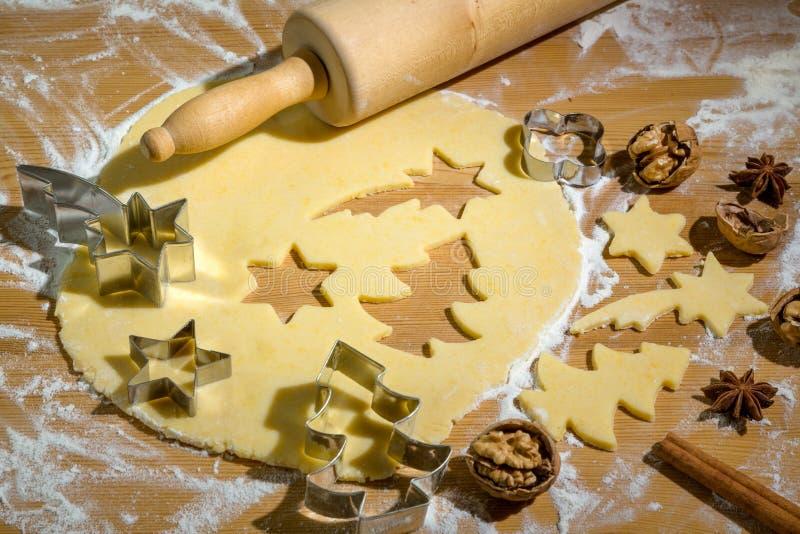 Biscuits pour Noël images libres de droits