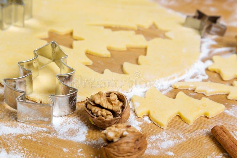 Biscuits pour Noël photographie stock libre de droits