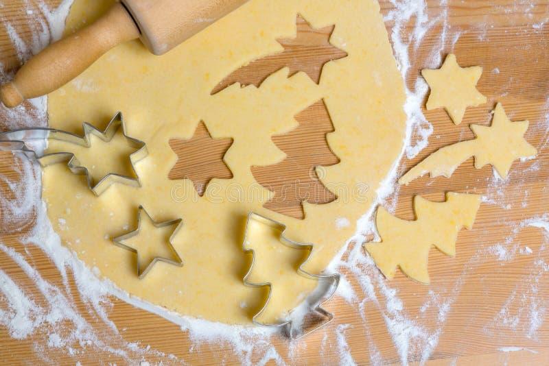 Biscuits pour Noël photos stock