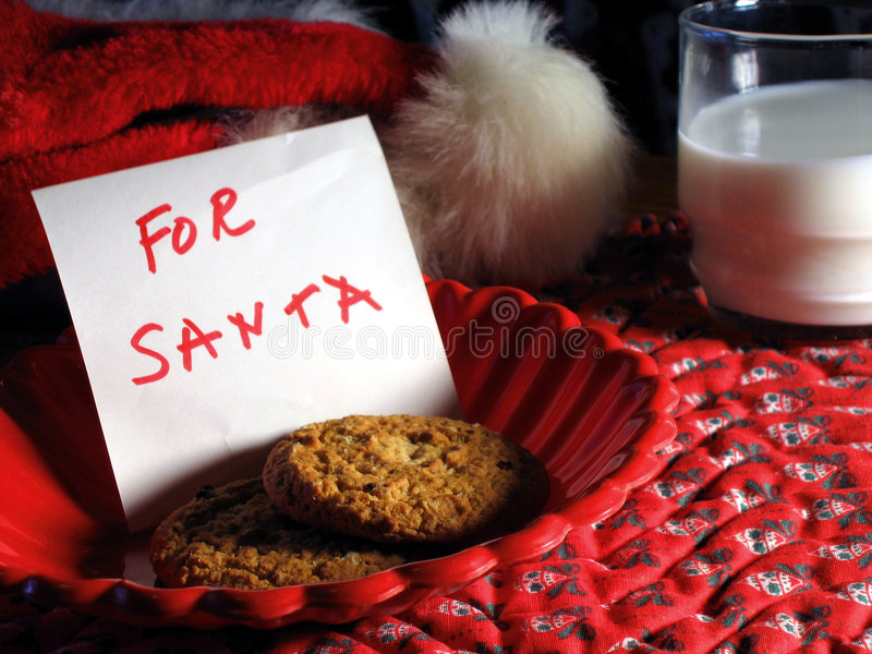 Biscuits pour Santa photos libres de droits