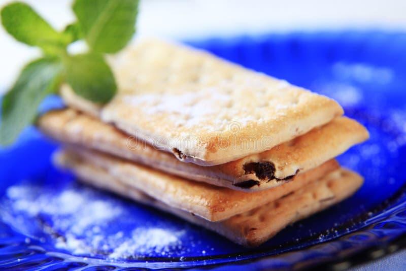 Biscuits remplis par fruit image libre de droits