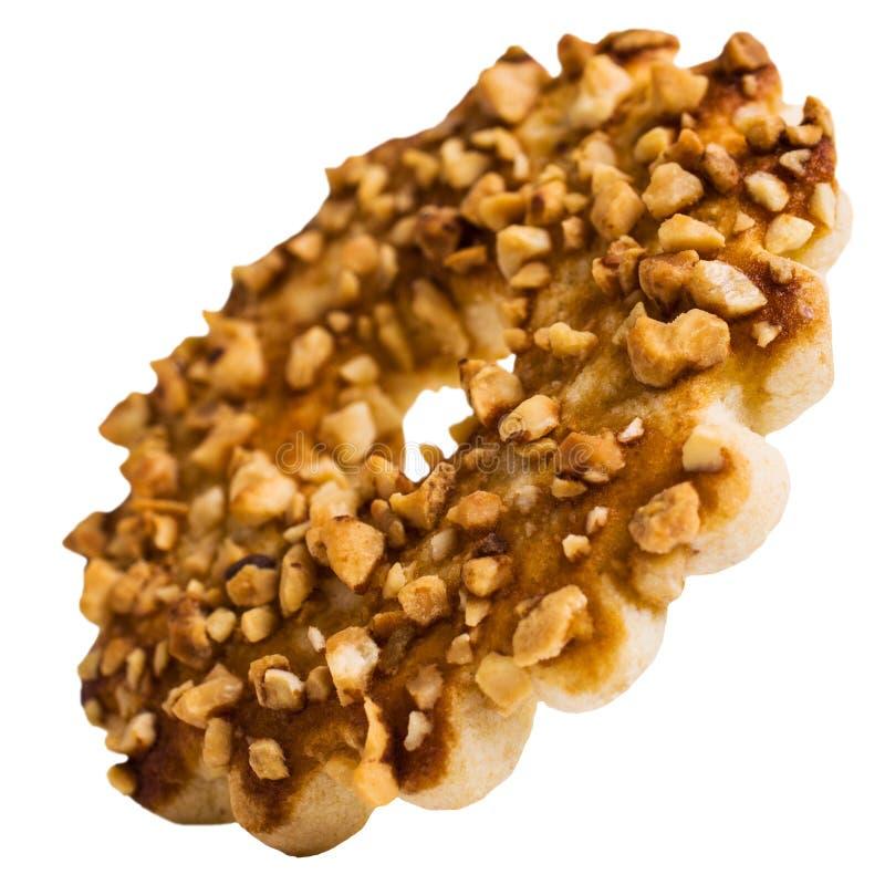 Biscuits ronds avec des écrous images libres de droits