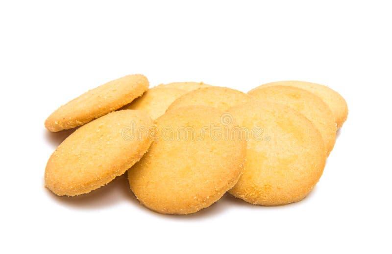 Biscuits ronds de confection d'isolement photo stock