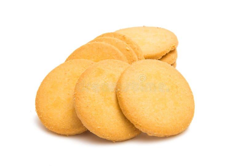 Biscuits ronds de confection d'isolement photographie stock libre de droits