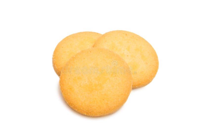 Biscuits ronds de confection d'isolement images stock