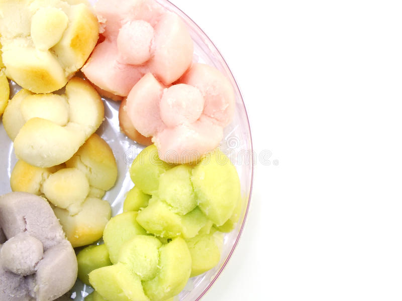 Biscuits sablés de fleur thaïlandaise images stock